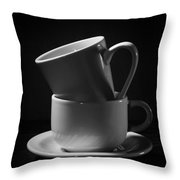 Empty Coffee Cups Throw Pillow