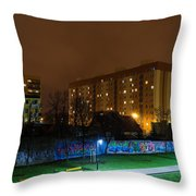 Empty Night Throw Pillow