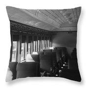Empty Railway Coach Throw Pillow