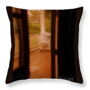 Empty Rocking Chair Throw Pillow