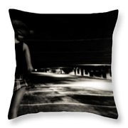 Empty Spaces Throw Pillow by Bob Orsillo