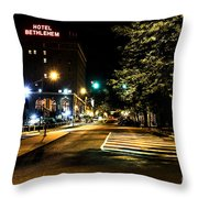 Along The Cobblestone Throw Pillow