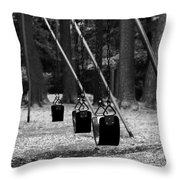 Empty Swings Throw Pillow