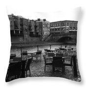 Empty Tables Throw Pillow