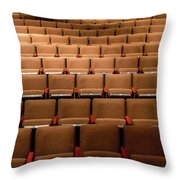 Empty Theater Chairs In Ventura Arts Throw Pillow