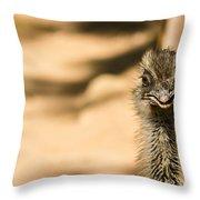 Emu Portrait Throw Pillow