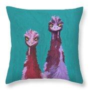 Emu Watch Throw Pillow