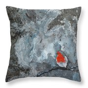 En Mis Pensamientos Throw Pillow by Jacqueline Shaw