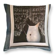 Enamel And Lace Throw Pillow