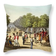 Encampment Of The British Army Throw Pillow