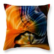 Encaustic 1381 Throw Pillow