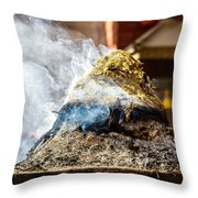 Encens Burning Throw Pillow