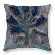Enchanted Bluebells Throw Pillow