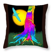 Enchanted Dream Tree Throw Pillow