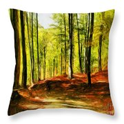 Enchanted Forest - Drawing  Throw Pillow