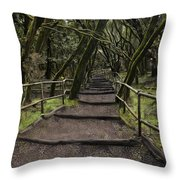 Enchanted Forest Garajonay National Park La Gomera Spain Throw Pillow