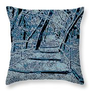 Enchanted Forest In The Winter Throw Pillow