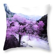 Enchanted Pink Throw Pillow