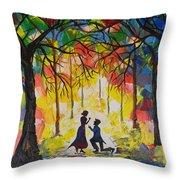 Enchanted Proposal Throw Pillow