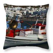 Enchanted Spaces Mykonos Greece 1 Throw Pillow
