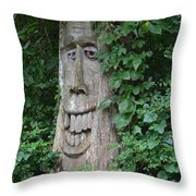 Enchanted Tree In The Forest Throw Pillow