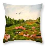 Enchanted Valley Throw Pillow by Barbara Pirkle