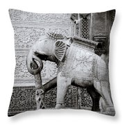 The Indian Elephant Throw Pillow