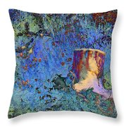 Enchanting Snow Forest Throw Pillow