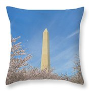 Enchanting Spring In Washington Throw Pillow