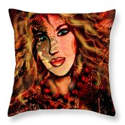Enchanting Woman Throw Pillow