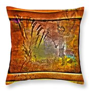 Encounter With The 5th Dimension Throw Pillow