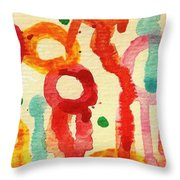 Encounters 3 Throw Pillow