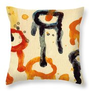 Encounters 4 Throw Pillow