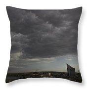 Encroaching Storm Throw Pillow