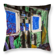 Encroachment Throw Pillow by Scott Campbell