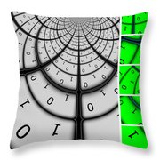 Encryption 3 Throw Pillow