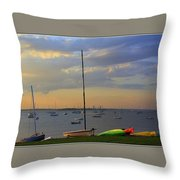 End Of Day At The Bay Throw Pillow