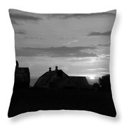 End Of Day Bw Throw Pillow