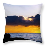 End Of Day On The Pacific Throw Pillow