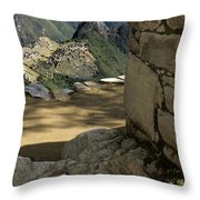 End Of Inca Trail Throw Pillow