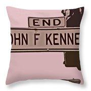End Of John F Kennedy Street In San Francisco Throw Pillow