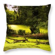 End Of Path Merged Image Throw Pillow