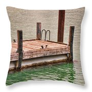 End Of Small Pier Throw Pillow