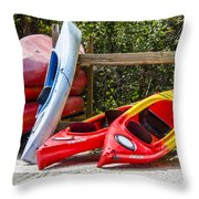 End Of Summer Fun Throw Pillow by Carolyn Marshall