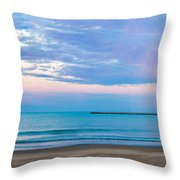 End Of The Blue Hour Throw Pillow by Steven Santamour