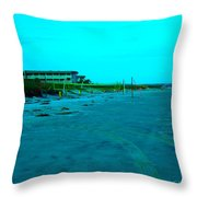 End Of The Day At Isle Of Palms Throw Pillow