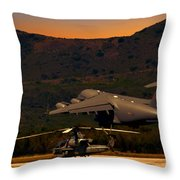 End Of The Day Departure Throw Pillow