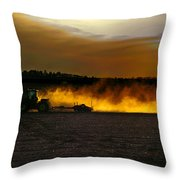 End Of The Day In The Field Throw Pillow