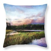 End Of The Day - Landscape Art Throw Pillow