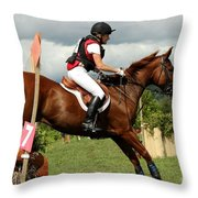 End Of The Jump Throw Pillow
